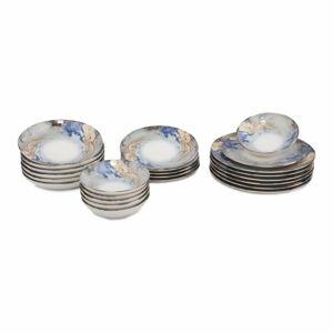 24dílná sada porcelánového nádobí Güral Porselen Abstract