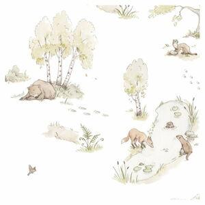 Nástěnná tapeta s motivem lesních zvířátek Dekornik