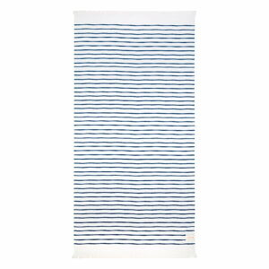 Modro-bílá plážová osuška Sunnylife Nouveau Bleu