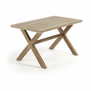 Stůl z eukalyptového dřeva La Forma Brilliant, 80 x 140 cm