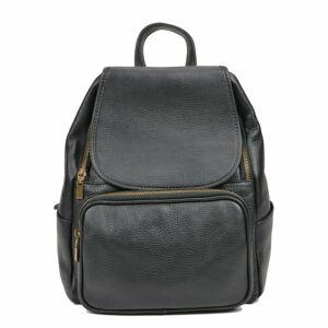 Černý kožený batoh Luisa Vannini Sienna