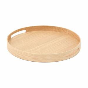Kruhový dřevěný tác Wireworks Busboy Oak, ø 30,8 cm