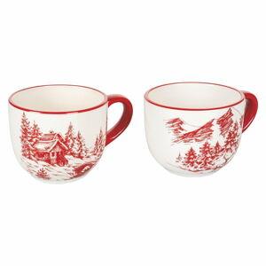Sada 2 vánočních hrnečků z dolomitu Villa d'Este Alaska,300ml