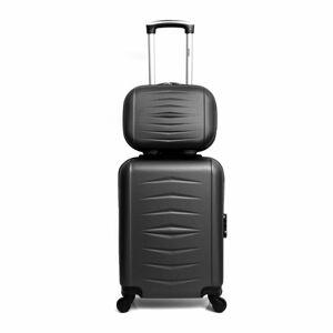 Sada 2 černých cestovních kufrů na kolečkách Infinitif Oviedo