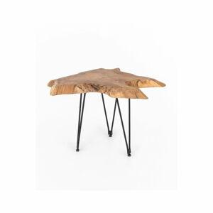 Konferenční stolek s deskou z teakového dřeva WOOX LIVING Natura, 50x50cm