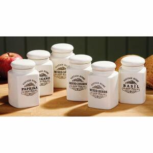 Sada 6 krémových dóz na bylinky Premier Housewares Vintage Home