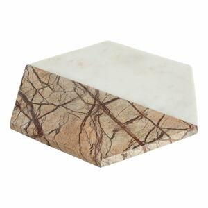 Bílo-béžový mramorový servírovací podnos Premier Housewares Marble