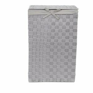 Šedý koš na prádlo s víkem Compactor Laundry Basket Linen, výška 60 cm