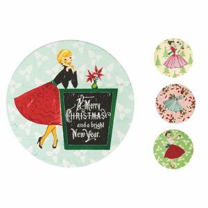 Sada 4 vánočních podtácků z keramiky a korku Villa d'Este Fairy,ø10cm