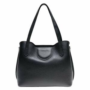 Černá kožená kabelka Luisa Vannini