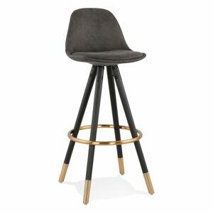 Černá barová židle KokoonBruce, výška sedáku 75cm