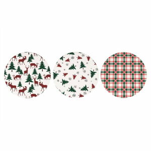 Sada 12 vánočních podtácků z keramiky a korku Villa d'Este Denver,ø16cm