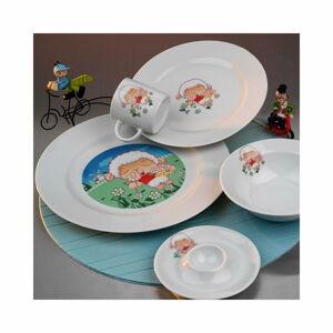 5dílný dětský porcelánový jídelní set Kütahya Porselen Sheep
