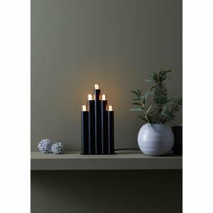 Černý vánoční svícen Markslöjd Organo