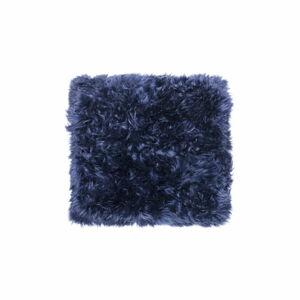 Tmavě modrý koberec z ovčí kožešiny Royal Dream Zealand Square, 70x70cm