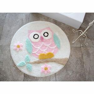 Koupelnová předložka Alessia Owl Ecru, Ø 90 cm
