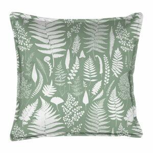 Zelený dekorativní polštář Velvet Atelier Fern, 45 x 45 cm