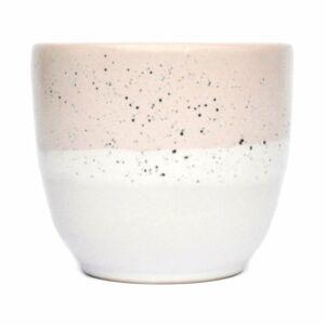 Růžovo-bílý kameninový šálek ÅOOMI Dust, 200 ml