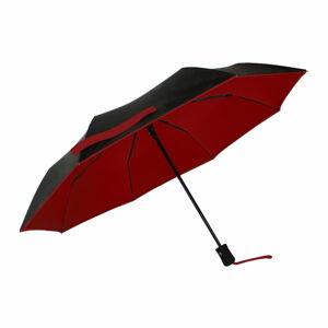 Černo-červený větruodolný deštník sUV ochranou Ambiance, ⌀97cm