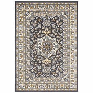 Tmavě šedý koberec Nouristan Parun Tabriz, 200 x 290 cm
