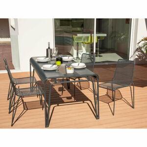 Šedý kovový zahradní jídelní stůl Ezeis Ambroise