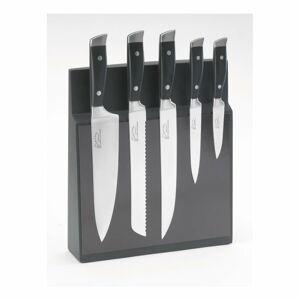Sada 5 nožů z nerezové oceli s magnetickým blokem Jean Dubost Massif