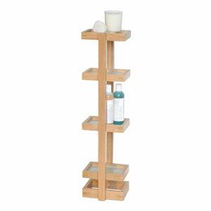 Dřevěný stojan do koupelny z dubového dřeva Wireworks Caddy Mezza, výška 73 cm
