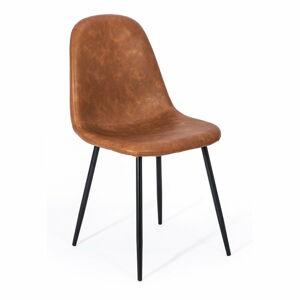 Sada 2 hnědých jídelních židlí loomi.design Lissy