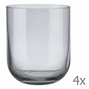 Sada 4 šedých sklenic na vodu Blomus Mira, 350 ml