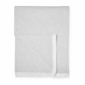 Světle šedý pléd s podílem bavlny Euromant Summer Linen, 140 x 180 cm