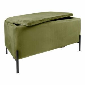 Zelená lavice s úložním prostorem Leitmotiv Snog