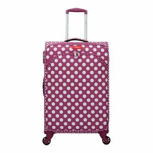 Fialovorůžové zavazadlo na 4 kolečkách Lollipops Jenny, výška 67cm