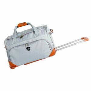 Světle šedá cestovní taška na kolečkách GENTLEMAN FARMER Sporty, 61 l
