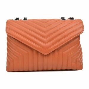 Hnědá kožená kabelka Luisa Vannini, 23 x 34 cm