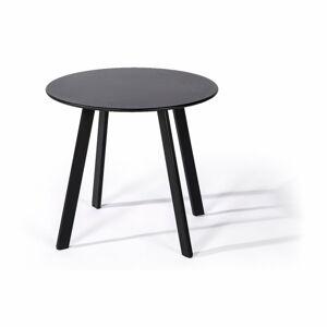 Černý zahradní stůl Le Bonom Full Steel, ø 50 cm