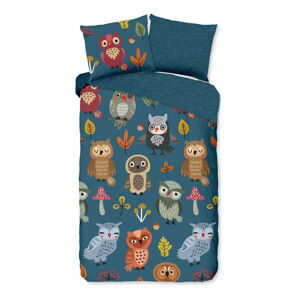 Dětské bavlněné povlečení Good Morning Owls,140x220cm