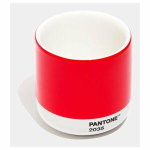 Červený keramický termo hrnek Pantone Cortado, 175ml