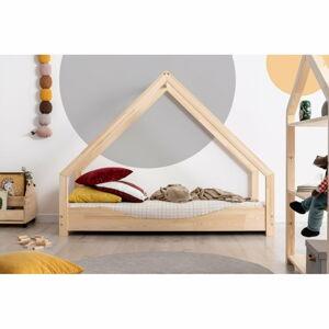 Domečková dětská postel z borovicového dřeva Adeko Loca Elin,90x190cm