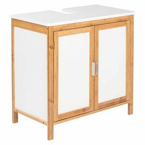 Koupelnová skříňka z bambusového dřeva Wenko Finja