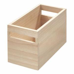 Úložný box ze dřeva paulownia iDesign Eco Wood,12,7x25,4cm