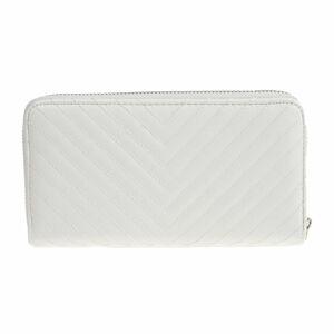 Bílá koženková peněženka Carla Ferreri