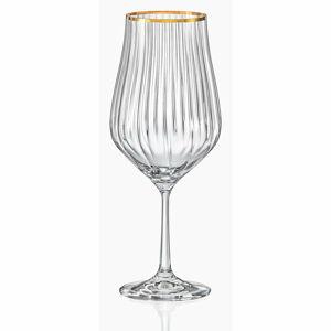 Sada 6 vinných sklenic Crystalex Golden Celebration, 450 ml