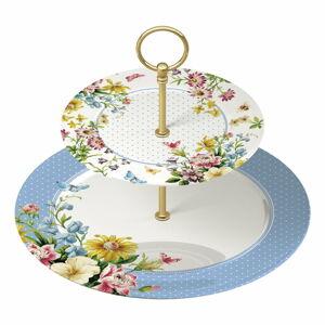 Porcelánový podnos na dorty English Garden