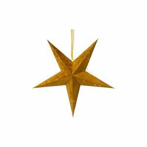 Vánoční světelná dekorace ve zlaté barvě Star Trading Velvet