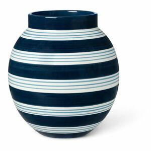 Tmavě modro-bílá keramická váza Kähler Design Nuovo, výška 20,5 cm