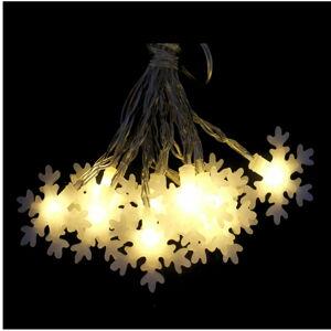 Béžový světelný LED řetěz Unimasa Estrella, 20 světýlek