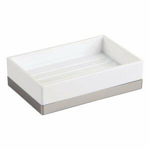 Bílá mýdlenka iDesign Clarity, 13x8cm