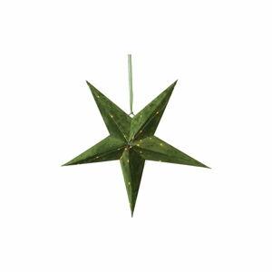 Zelená vánoční světelná dekorace Star Trading Velvet