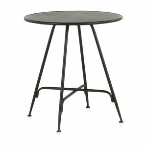 Černý kovový barový stolek Geese Industrial Style, výška 75 cm
