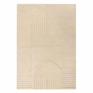 Béžový vlněný koberec Flair Rugs Zen Garden, 160 x 230 cm